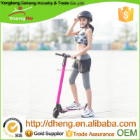 2016 Two Wheels Pink Color Electric Scooter With 5inch Wheels High Torque Motor, Carbon Fiber material