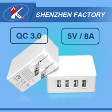 Hot Novelty Chinese 4 Port Mini Multiple USB Cell Phone Wall Charger Public Restaurant Multi 4USB HS Code Charger