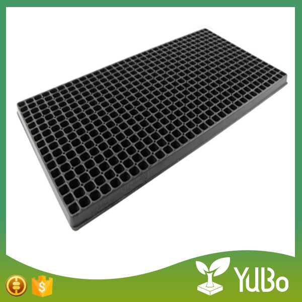 512 Cell Black Plastic Seed Germination Trays For Plants