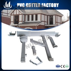 PVC OEM Rectangular Logo Printed Roof Rain gutter and Pipe