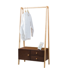 Wooden cabinet clothes stand bedroom hanging clothes rack