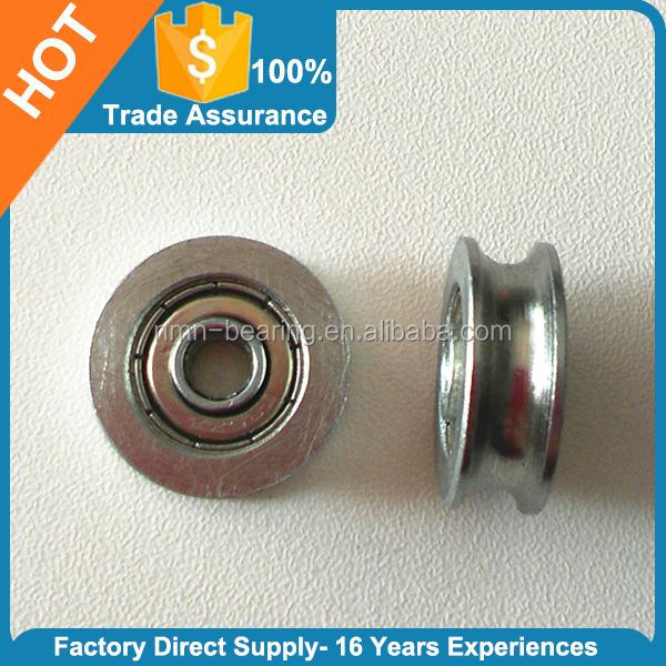 Wire rope Steel Pulley U groove customized galvanized pulley wheel deep groove ball bearing