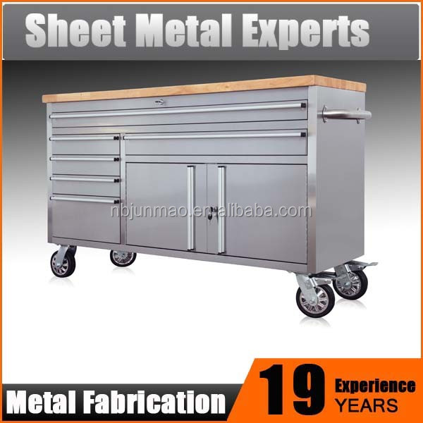 Garage Storage System large 60 in. stainless steel tool box with 6 drawer