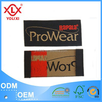 Woven technic pillow labels China manufacturer