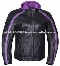 Leather Women motorcycle jacket