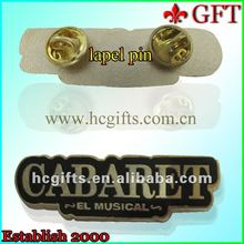 Black hard enamel with metal pin/tag pin GFT-L300