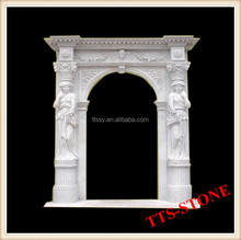 stone arch sculptures door frame