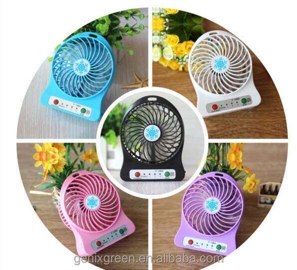 USB Fan 3 Speed Rechargeable Table Fan power Portable Compact Mini Personal Hand-held 2600mah Fan power bank for Home/ Travel
