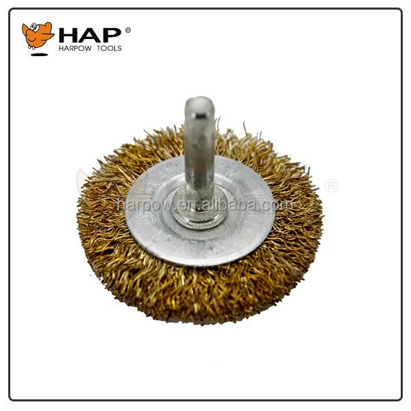 HARPOW Circular Brush With Shaft Wire Wheel Brush