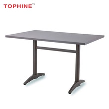 TOPHINE Furniture Modern Outdoor Restaurant Aluminum Dining Table
