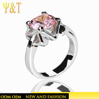 Jingli jewelry 18k white gold semi mount 8k diamond engagment rings with gemstone