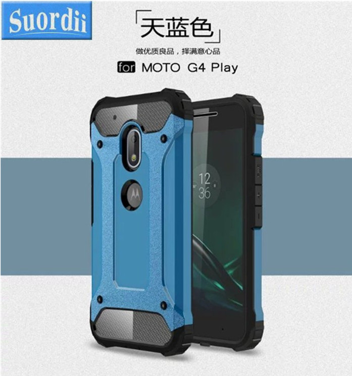 SUD Fashion Plastic Silicon Armor Case Cover Case For Moto G4 Play Cheap Phone Case