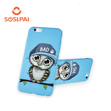 Cute mobile case for iphone 6plus, silicone soft shell 3D three dimensional relief cartoon design phone case for iphone 6plus