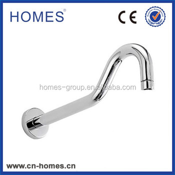 Traditional Curved 340mm Shower Arm - Chrome