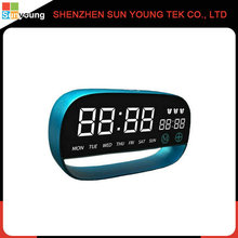 2017 promotion gift digital table electronic alarm clock with aluminium alloy multifunction alarm clock