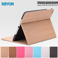 2016 Wholesale for ipad air2 / ipad mini4/3/2 case premium quality hard rugged shock proof heavy duty wooden case with stand