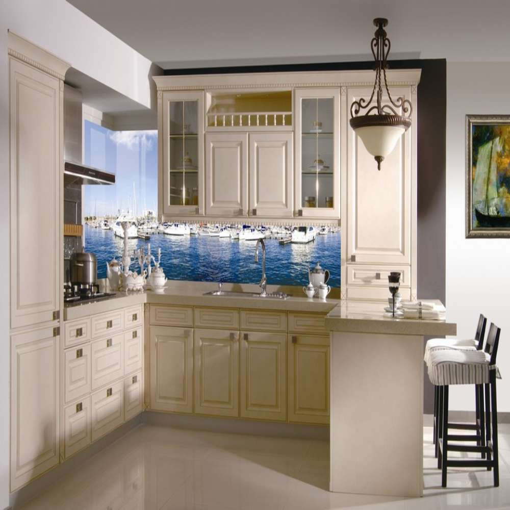 mediterranean style solid white solid wood kitchen modern house solid wood kitchen cabinet