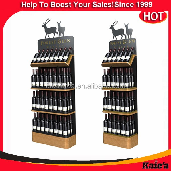 2016 retail metal wine display rack ,wine shop display rack