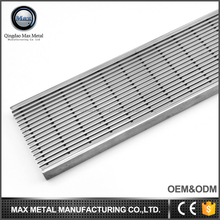 MOQ=10pcs free sample ideal stainless steel side outlet shower floor drain grate