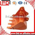 Large volume excavator trench bucket for excavator