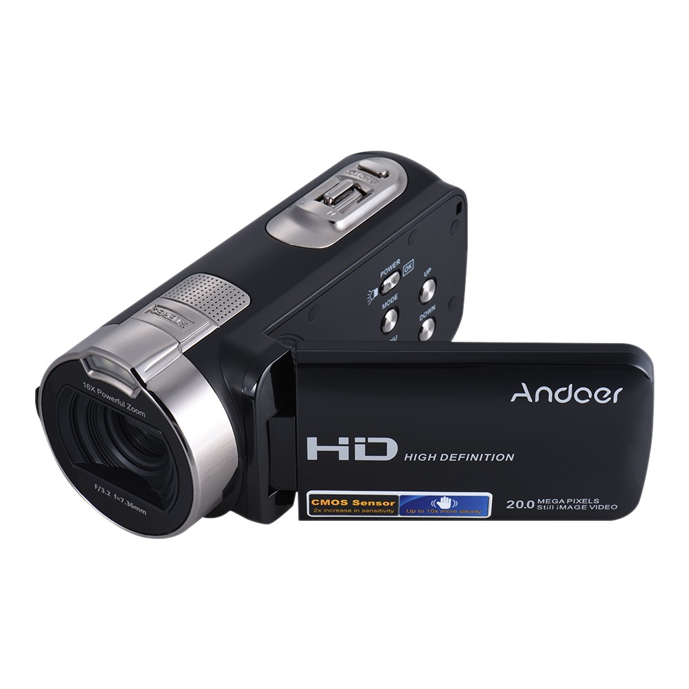 Andoer HDV-312P 1080P Full HD Digital Video Camera Portable Home-use DV with 2.7 Inch Rotating LCD Screen D4415B