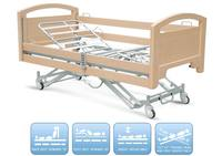 CE high quality hospital folding wooden Electric function patient home nursing care bed