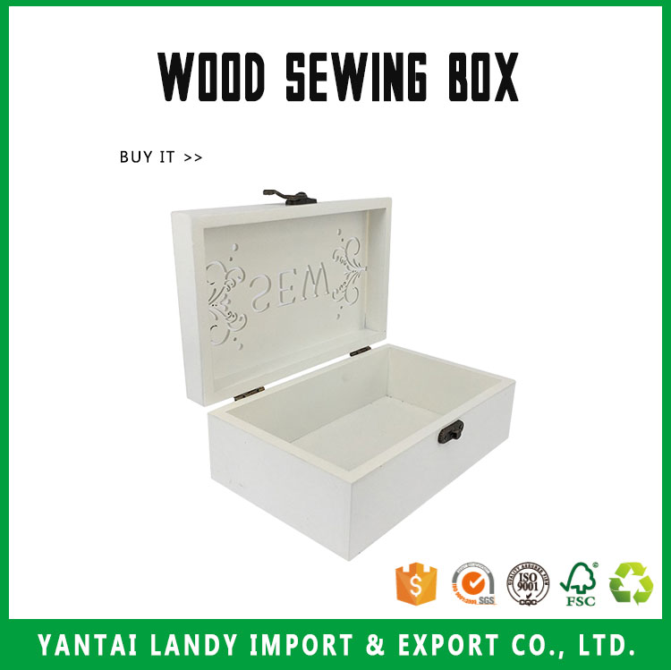 Crafts Handmade Wood Sewing Box