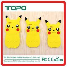 mobile phone accessories Pokemon Go 3d silicone case cute cartoon for IPhone 5 6 6s 7 plus Pikachu case