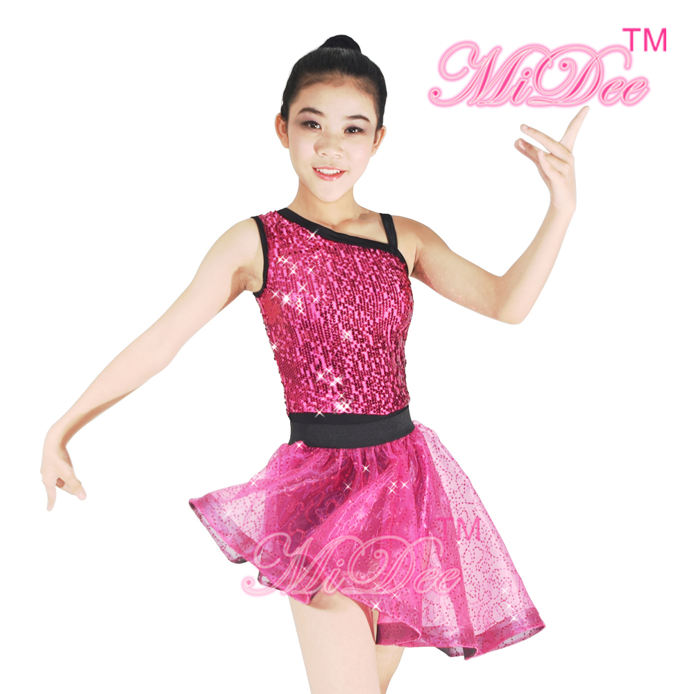 Sequins Ballet Tutu Dance Dress Stage Performance Costumes Lyrical Dance Dress For Women