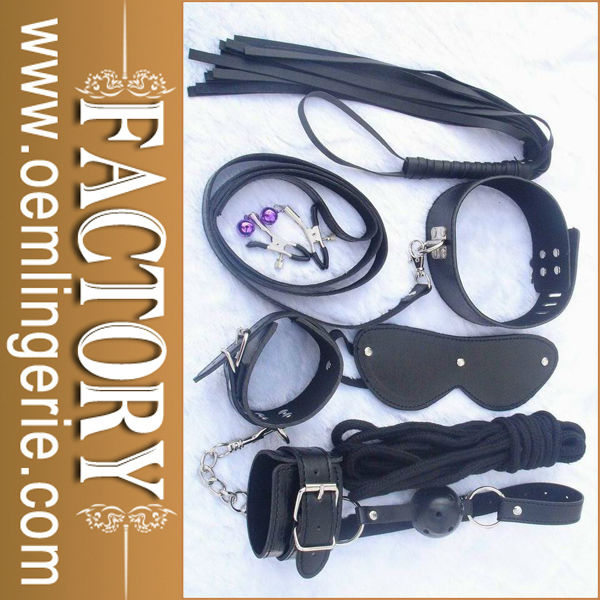 New arrival black faux leather Sex products
