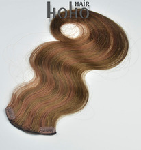 best selling products 100% human remy hair extension clip in