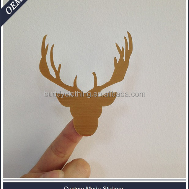 Custom christmas gold reindeer vinyl sticker