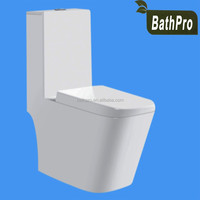 Top quality floor mounted installation type ceramic material one-piece sipnonic toilet for water closet