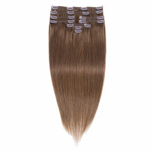 100% Human Hair Weaving Malaysian #6 9pcs/set Clip In Hair Extensions Straight Wave Human Hair Extension