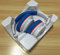 headset packaging disposable low price headphone blister trays