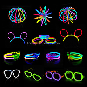 customized 8 inch liquid glow light stick lighted up stick bracelet