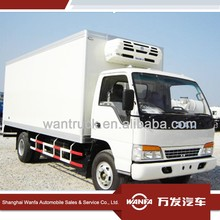 Jac 5 Tons 4X2 diesel Refrigerated Truck Box Meet Hook Refrigerator cooling van,Fresh meat truck For sale