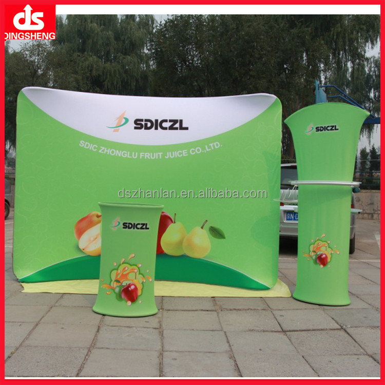 Stretch tension fabric backdrop exhibition display