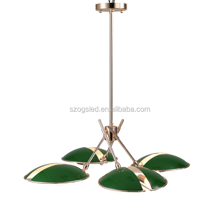 LED Light Green/ Purple Chandelier Guangzhou Ceiling Lamp