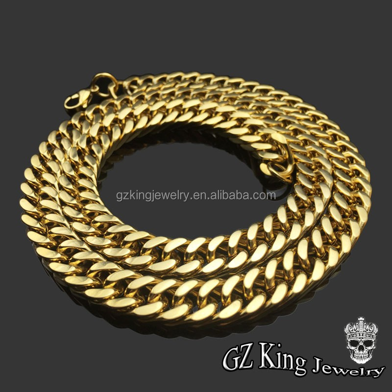 hip hop Stainless steel gold chain making machine jewelry gold for men