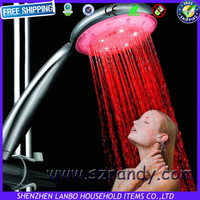 Single Red Color 1 pc Hydropower led shower accent lights for bathroom Free shipping drop shipping 8008-A1