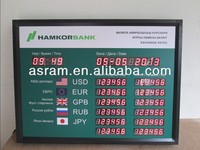 alibaba cn com Asram LED LED Digital Bank Foreign Currency Exchange Rate Board with LED sign and TCP/IP CRD-USD