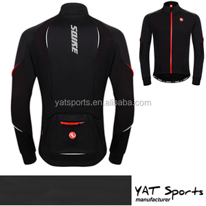 winter style brush fleece warm class cycling clothing waterproof wholesale cycling softshell jacket