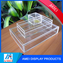 2016 custom made small clear acrylic box with lid with 10*10*8cm size or customized