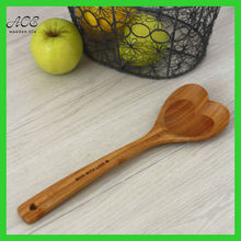 Heart shape bamboo spoon
