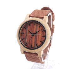 Thanksgiving gift fire red nylon strap watch for men and women wood watch customized logo watch