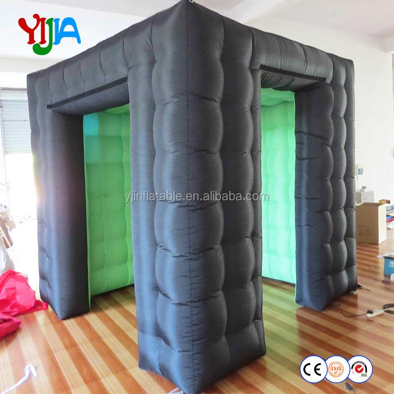 2018 hot sell wedding inflatable led cube photo booth for party