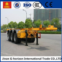 2017 Factory Manufacture 20ft 40ft 3 Axle Skeletal Container Chasis Semi Trailer