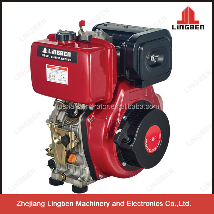 Lingben China Zhejiang 10hp recoil/electric diesel engine 4 stroke LB186FA