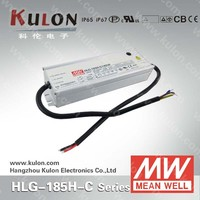 MEAN WELL HLG-185H-C 500mA, 700mA, 1050mA, 1400mA Constant current led driver